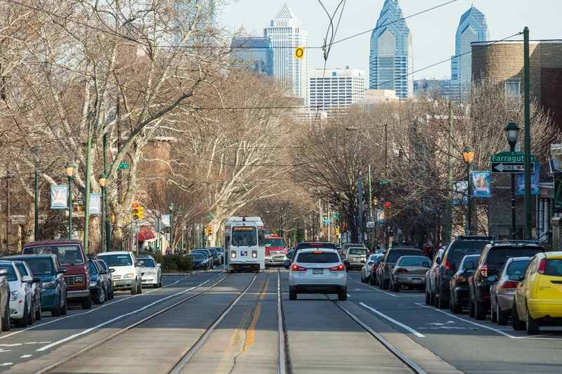 Looking at Center City from West Philadelphia