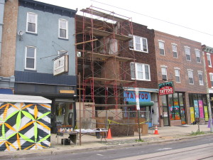 A look at Brewerytown Home construction - Image Courtesy of Philly Living