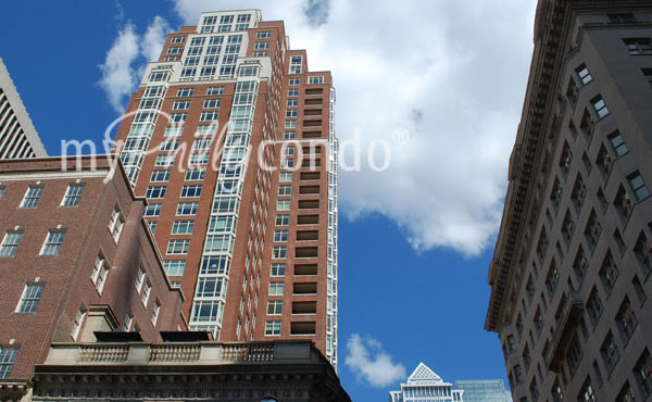 10 Rittenhouse Square - Luxury Center City Philly Condos Looking Up at the Top